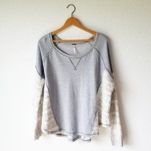 Free People Gray Beautiful Sinner Pullover - M GUC